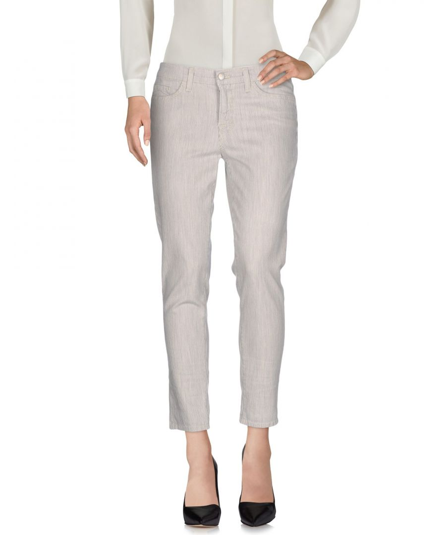Image for J Brand Grey Cotton Tapered Leg Trousers