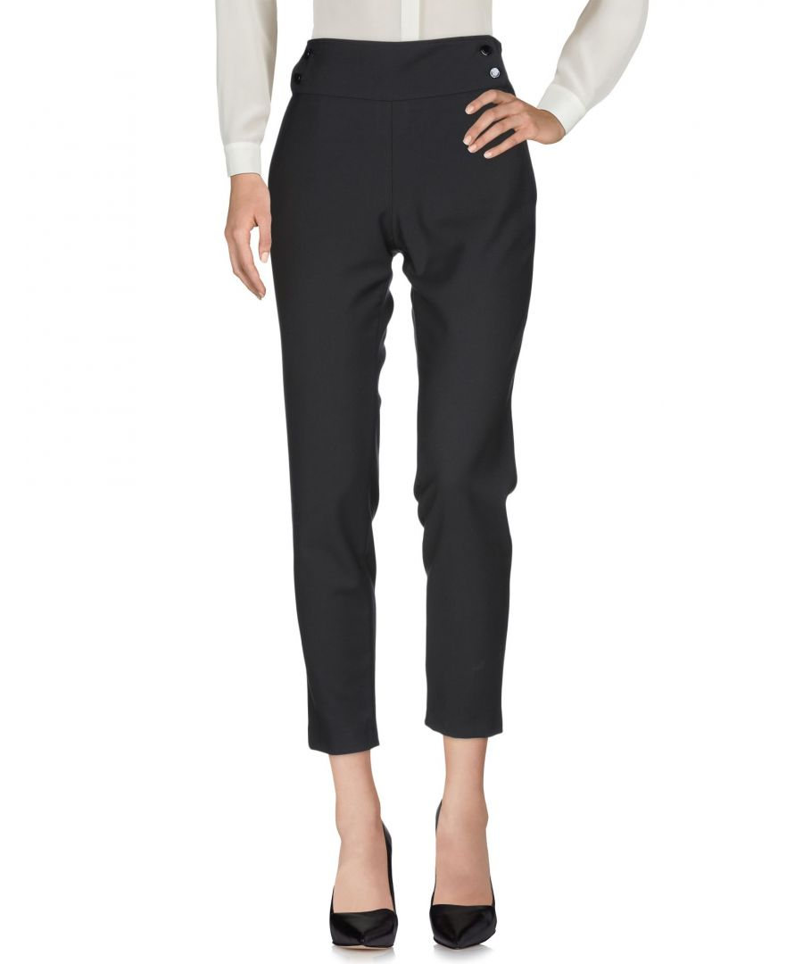 Image for Atos Lombardini Black Tapered Leg Trousers