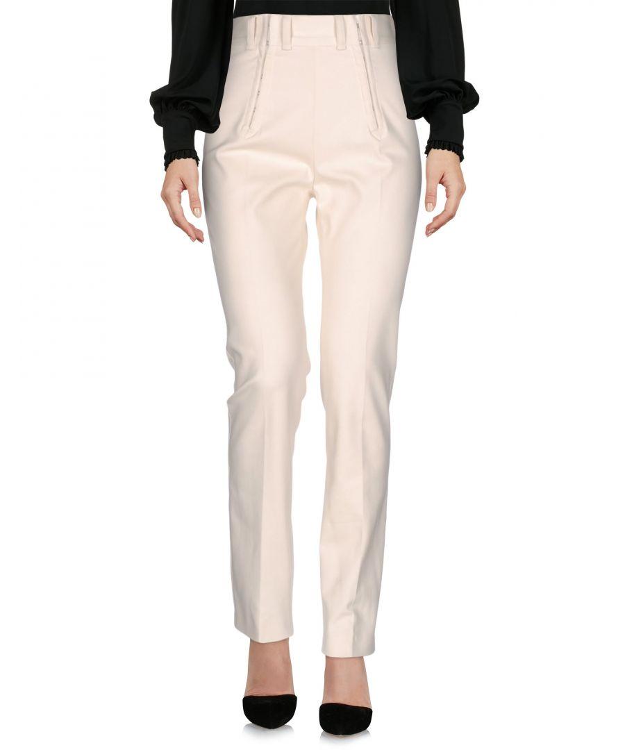 Image for Philosophy Di Lorenzo Serafini Ivory Cotton Straight Leg Trousers