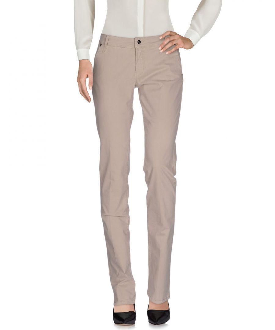 Image for Liu Jo Dove Grey Cotton Trousers