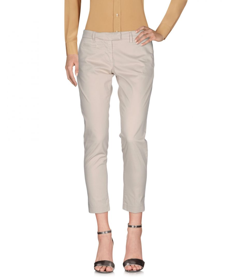 Image for Dondup Ivory Cotton Cropped Trousers