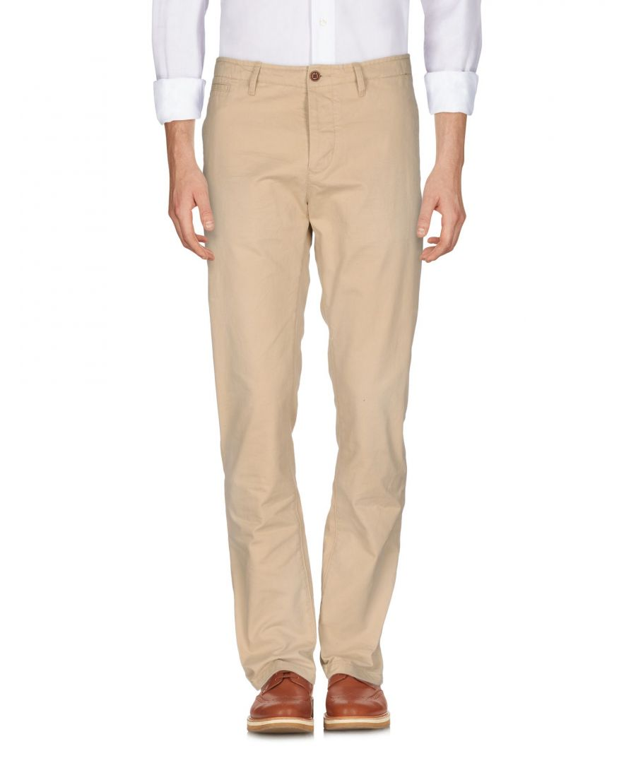 Image for Scotch & Soda Beige Cotton Tapered Leg Trousers