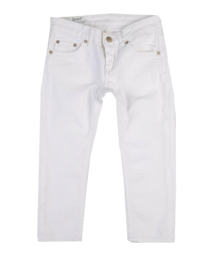 Image for DENIM Girl Dondup White Cotton