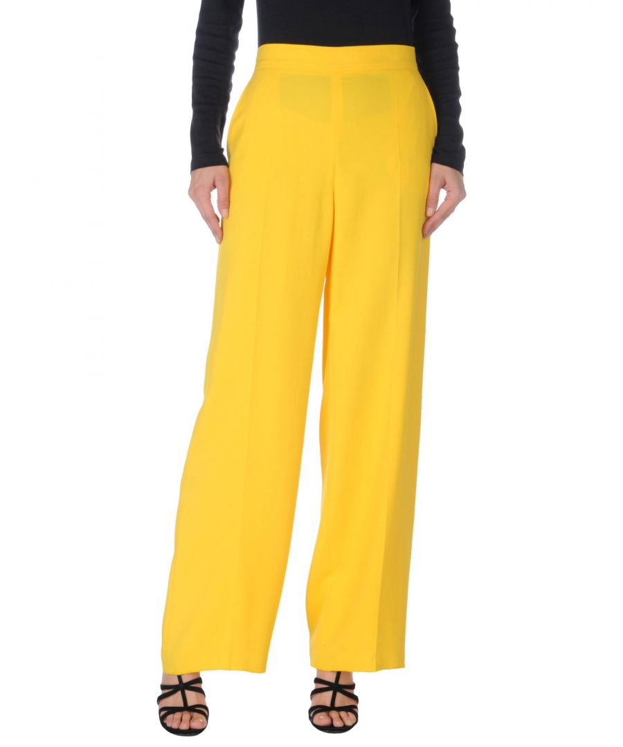 Image for M Missoni Yellow Crepe Wide Leg Trousers