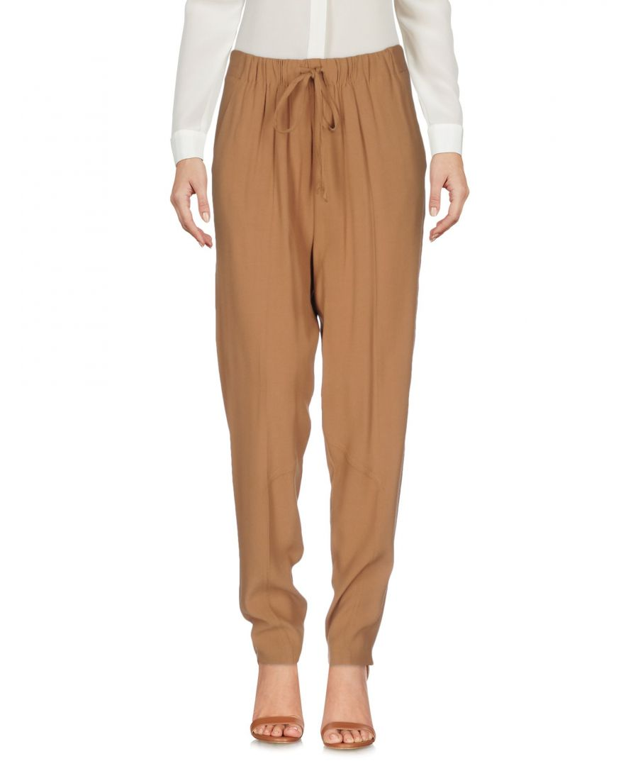 Image for Twinset Camel Crepe Trousers