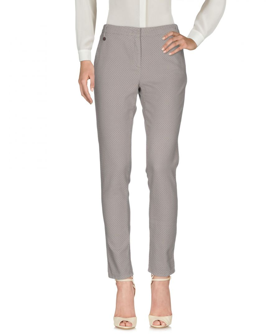Image for Manila Grace Denim Light Grey Cotton Trousers