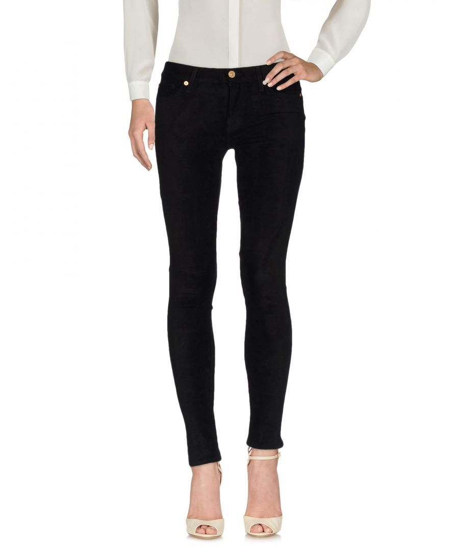 Image for 7 For All Mankind Black Mid Rise Slim Fit Trousers