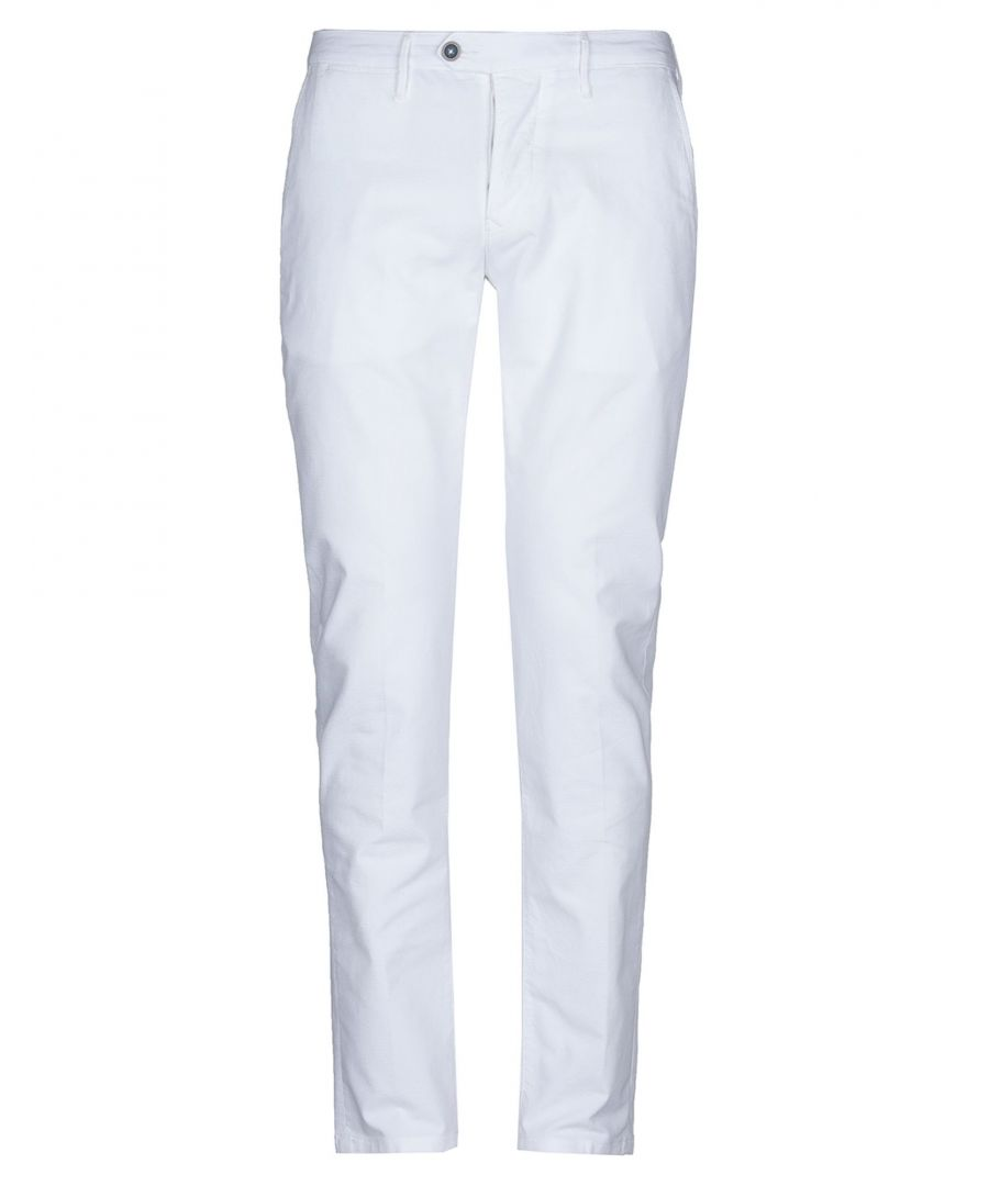 Image for Oaks White Cotton Tapered Leg Chino Trousers