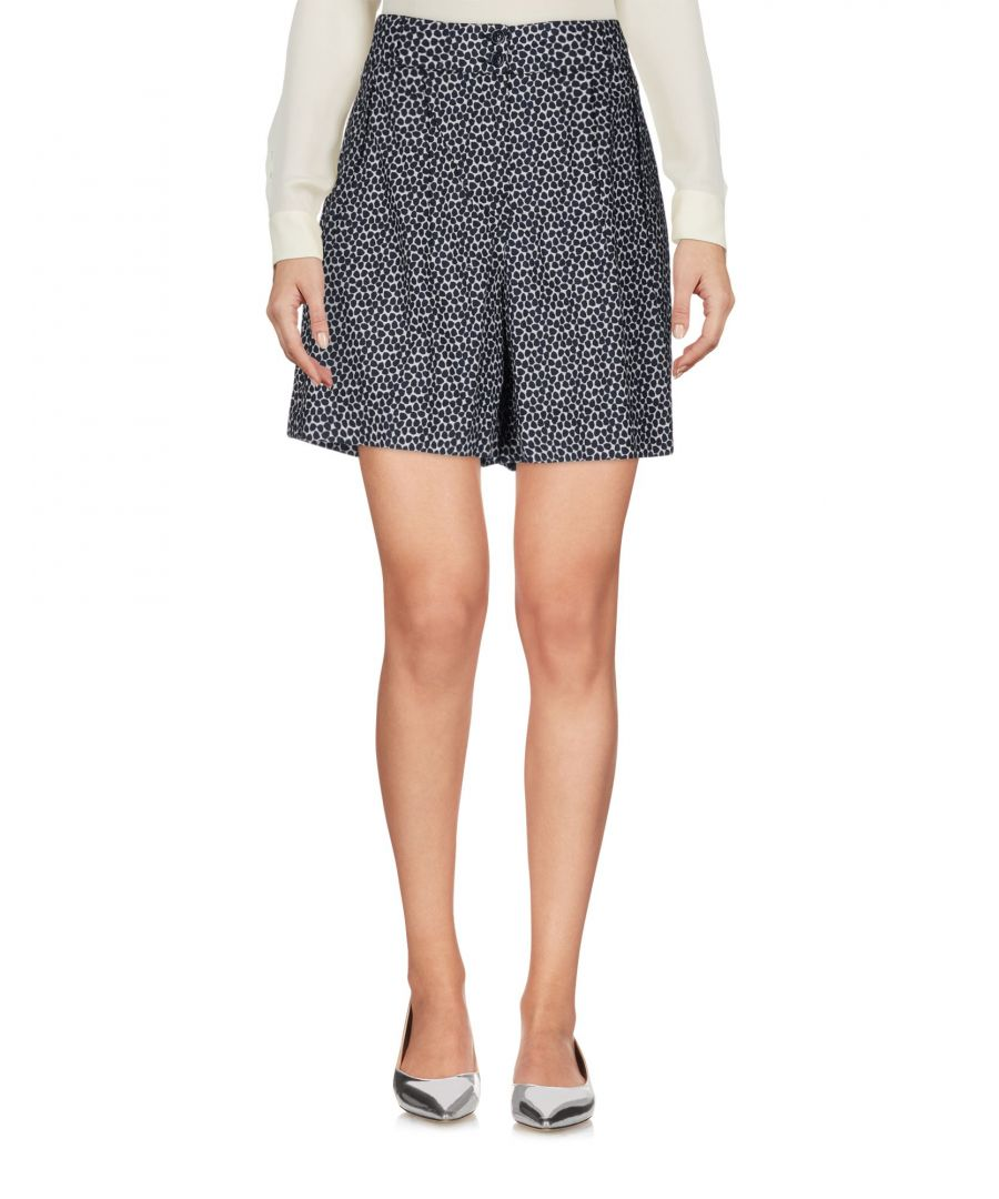 Image for Woolrich Dark Blue Print Cotton Skirt