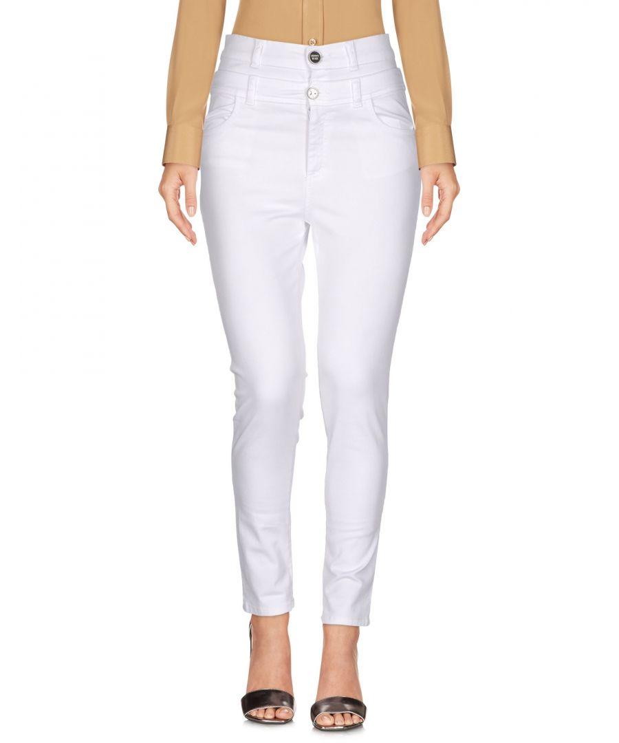 Image for TROUSERS Denny Rose White Woman Cotton