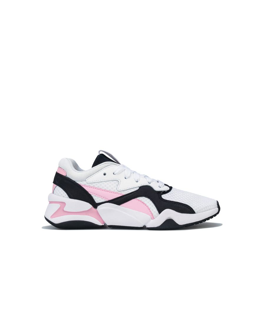 Image for Women's Puma Nova 90's Bloc Trainers in White pink