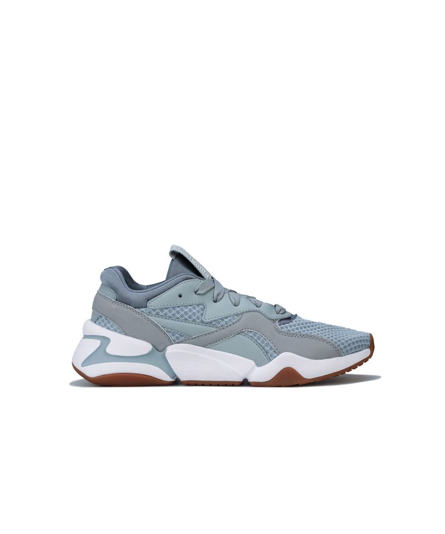 Image for Women's Puma Nova 90's Bloc Trainers in Grey White