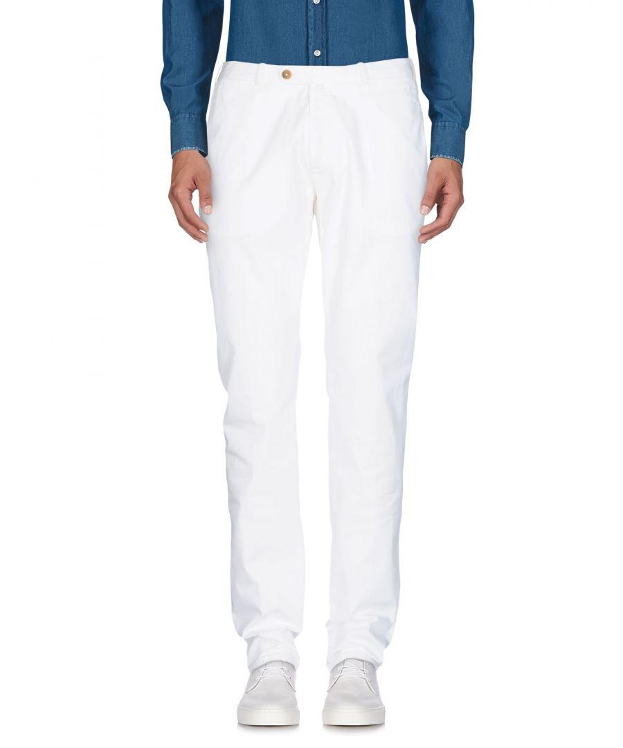 Image for Luigi Borrelli Napoli Ivory Cotton Chino Trousers