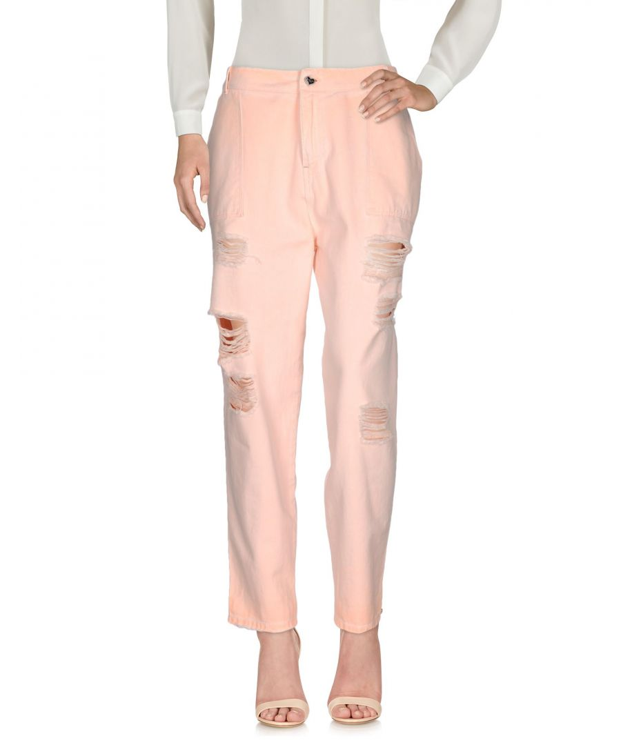 Image for TROUSERS Woman Twin-Set Jeans Light pink Cotton