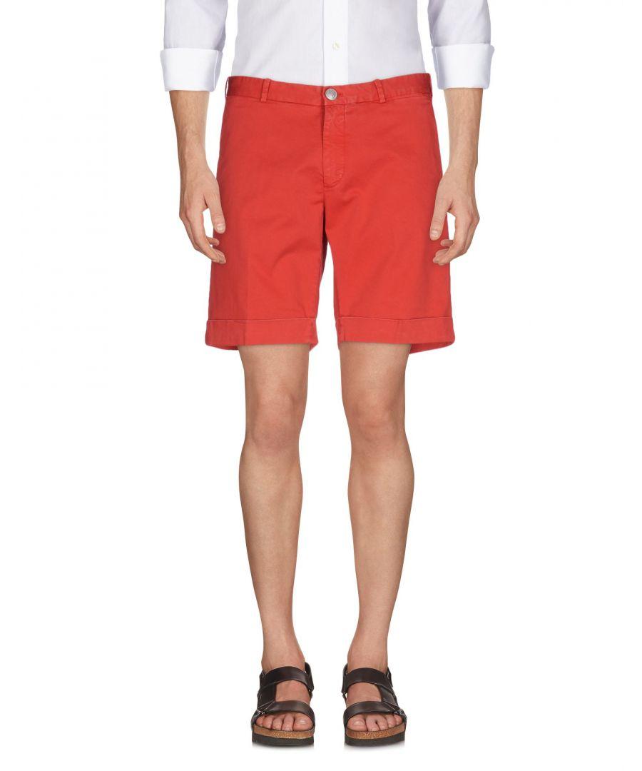Image for Luigi Borrelli Napoli Red Cotton Shorts