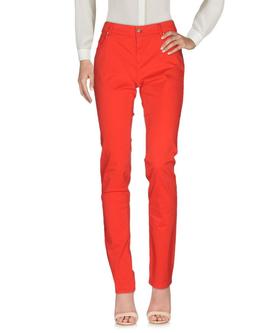 Image for Versace Jeans Red Cotton Trousers