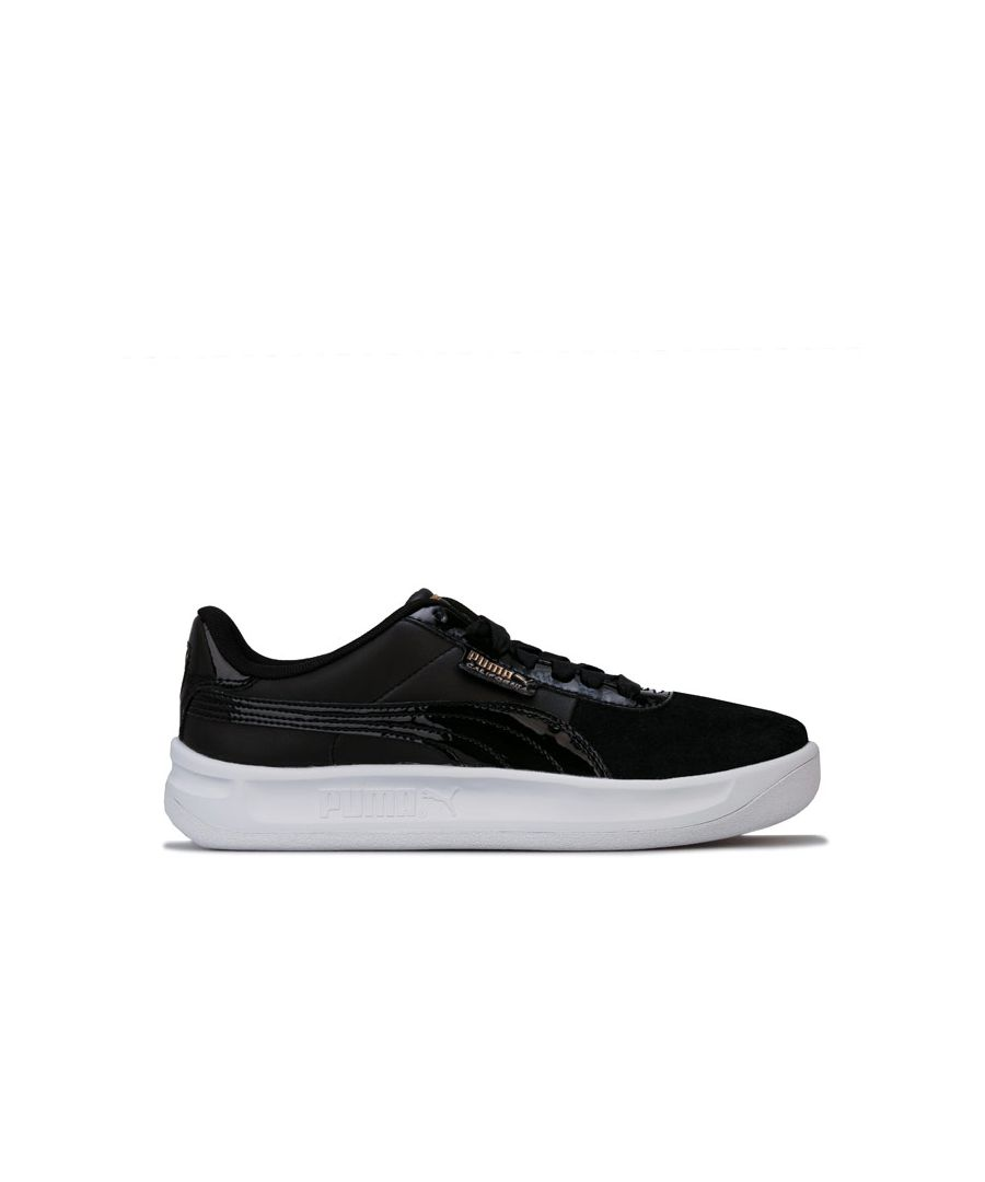 Image for Women's Puma California Monochrome Trainers in Black Gold