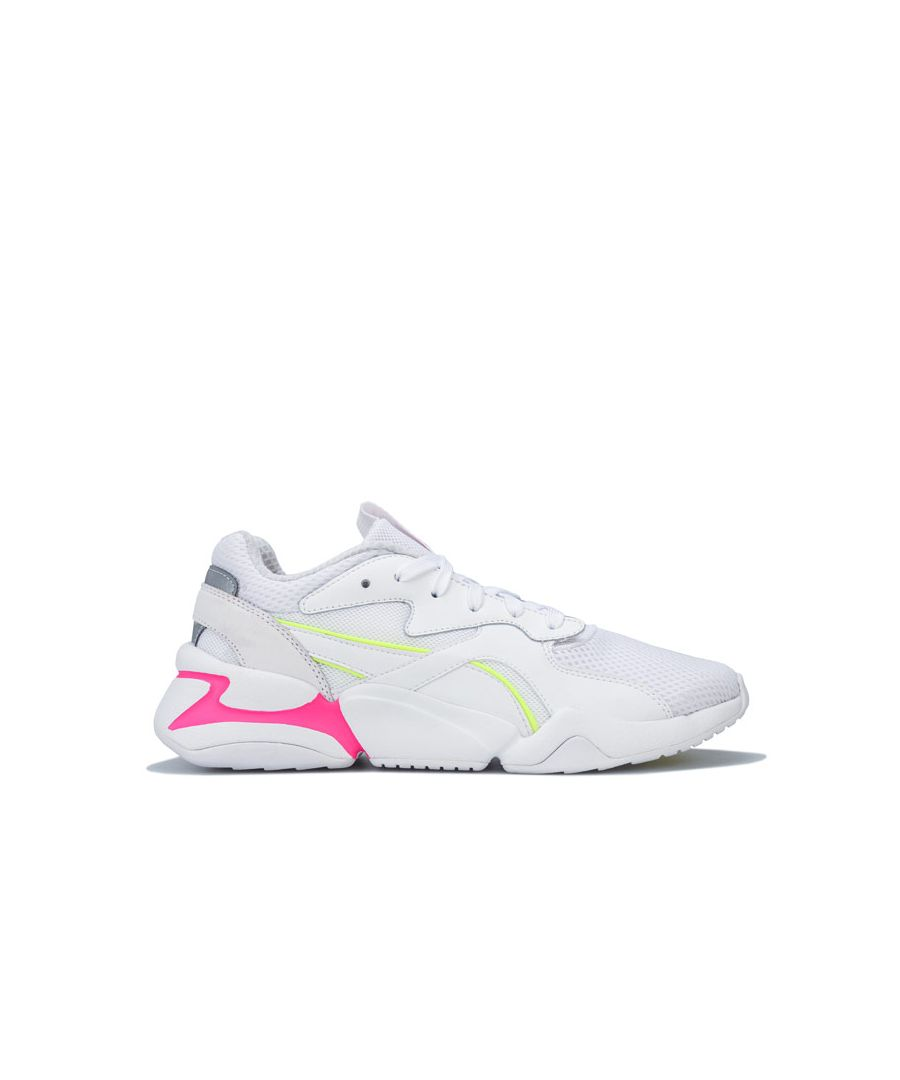 Image for Women's Puma Nova Mesh Trainers in White yellow