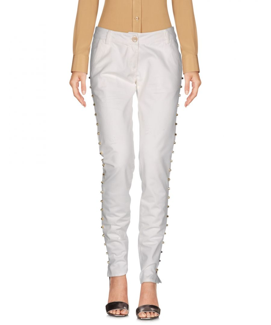 Image for Ki6? Who Are You? White Cotton Tapered Leg Chino Trousers