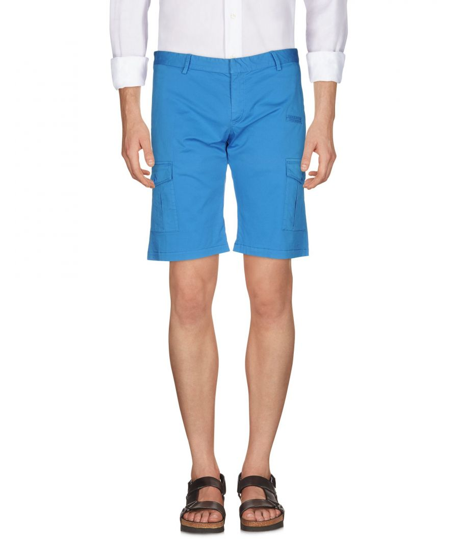 Image for David Naman Azure Cotton Bermuda