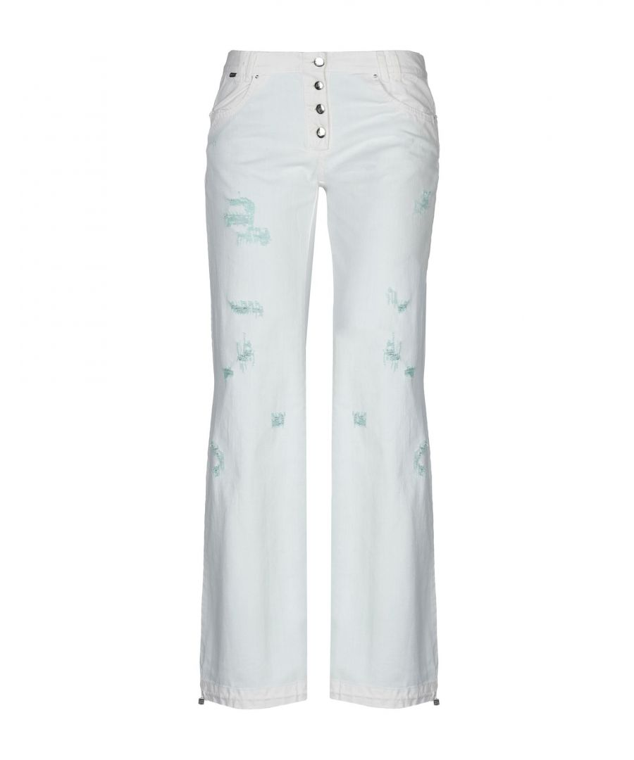 Image for Just Cavalli White Cotton Flare Jeans