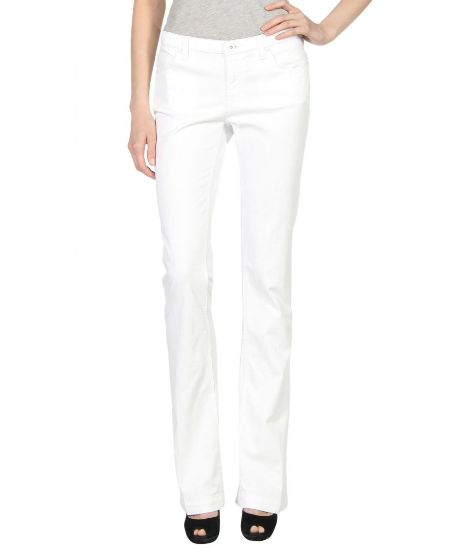 Image for Armani Jeans White Cotton Bootcut Jeans