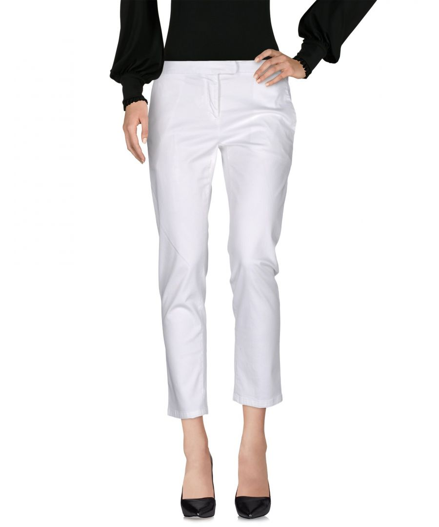 Image for TROUSERS Woman ..,Merci White Cotton