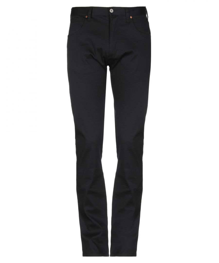 Image for Armani Jeans Dark Blue Cotton Tapered Leg Trousers