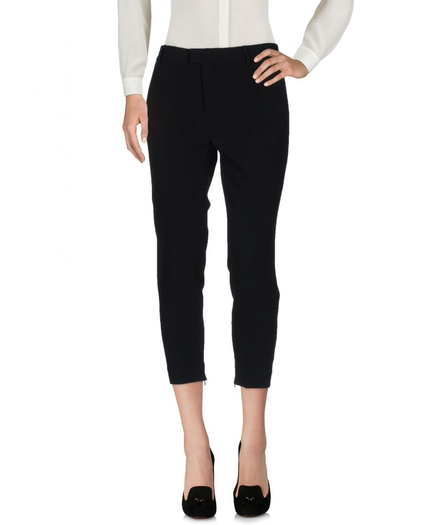 Image for Dsquared2 Black Cropped Trousers