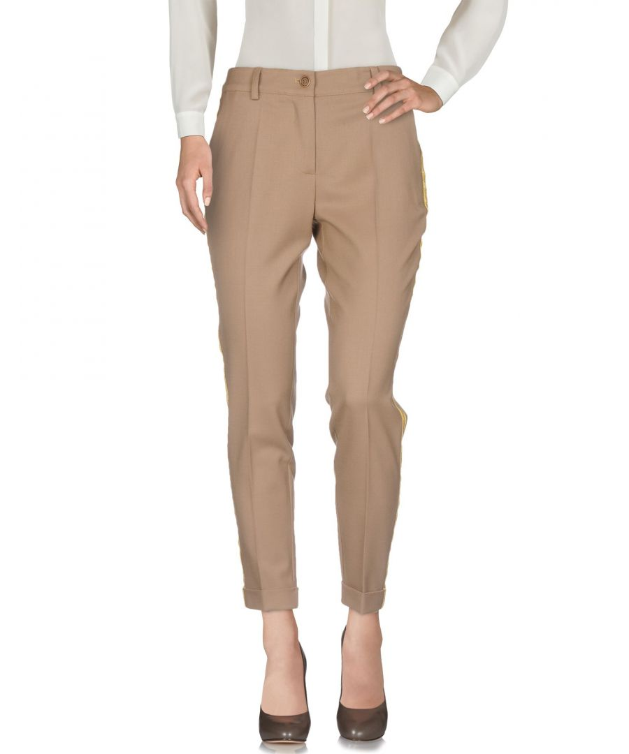 Image for P.A.R.O.S.H. Camel Virgin Wool Tailored Trousers