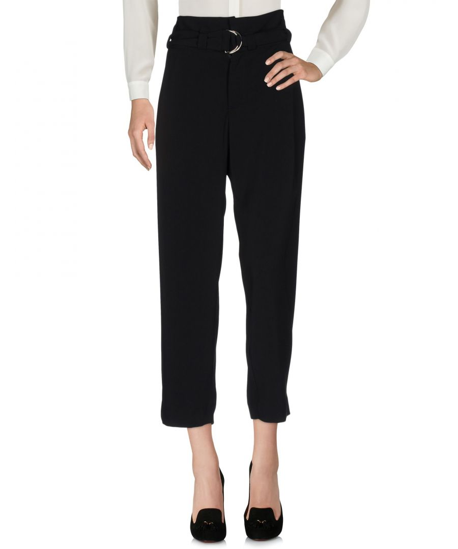 Image for Merci Black Crepe Cropped Trousers