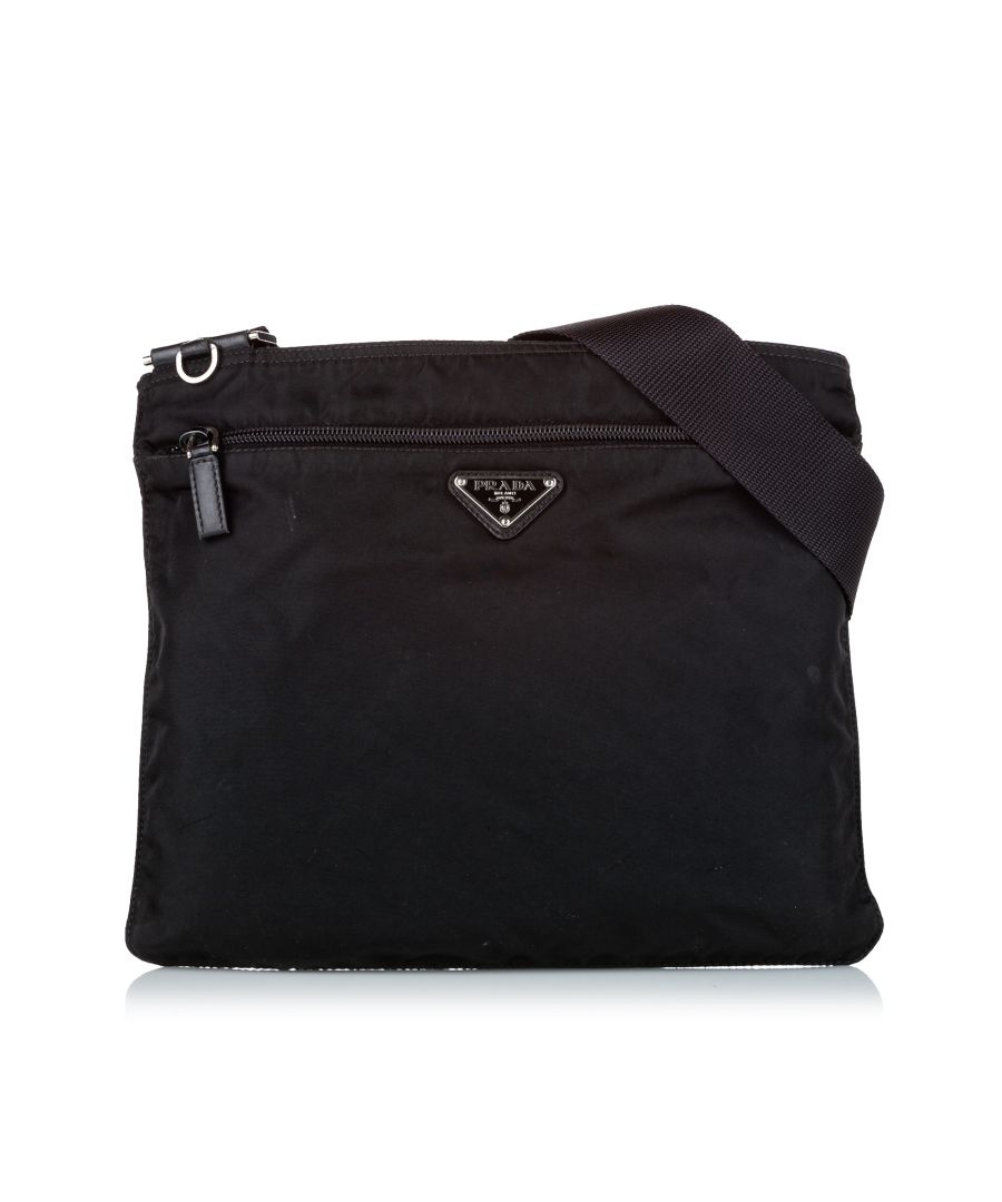 Image for Vintage Prada Tessuto Crossbody Bag Blue