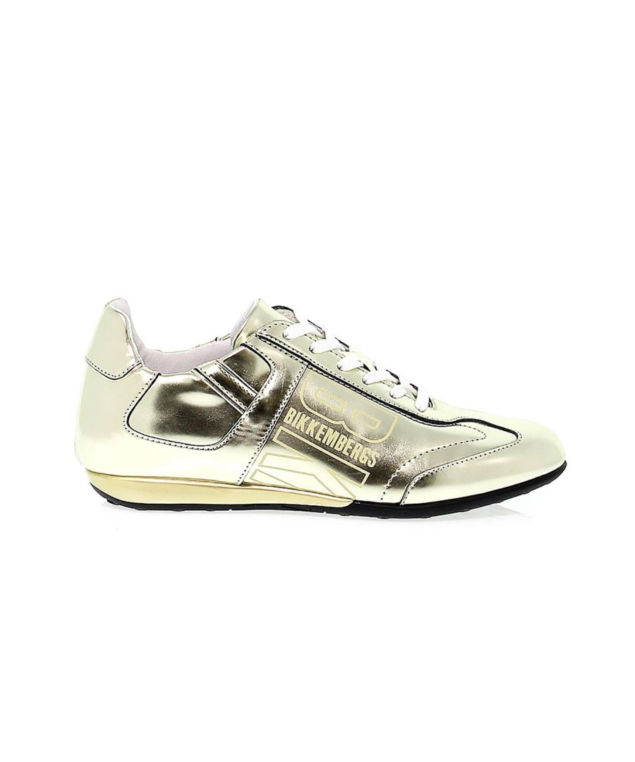 Image for BIKKEMBERGS WOMEN'S BKW101310 GOLD LEATHER SNEAKERS