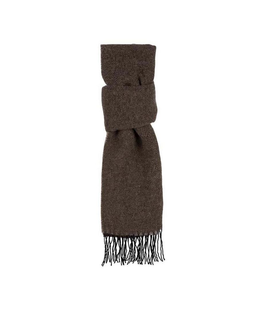 Image for Men's Hackett, Double Face WL Scarf in Brown & Cream