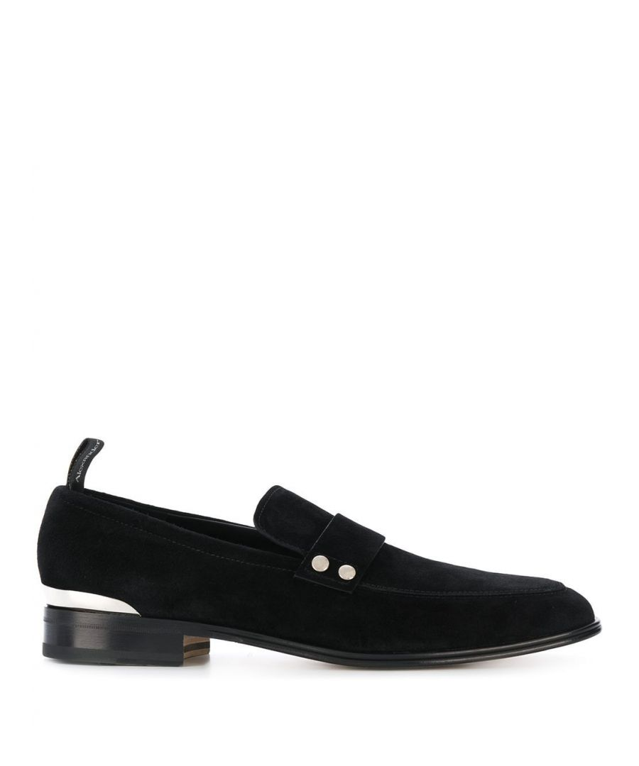 Image for ALEXANDER MCQUEEN MEN'S 604278WHXL19822 BLACK LEATHER LOAFERS