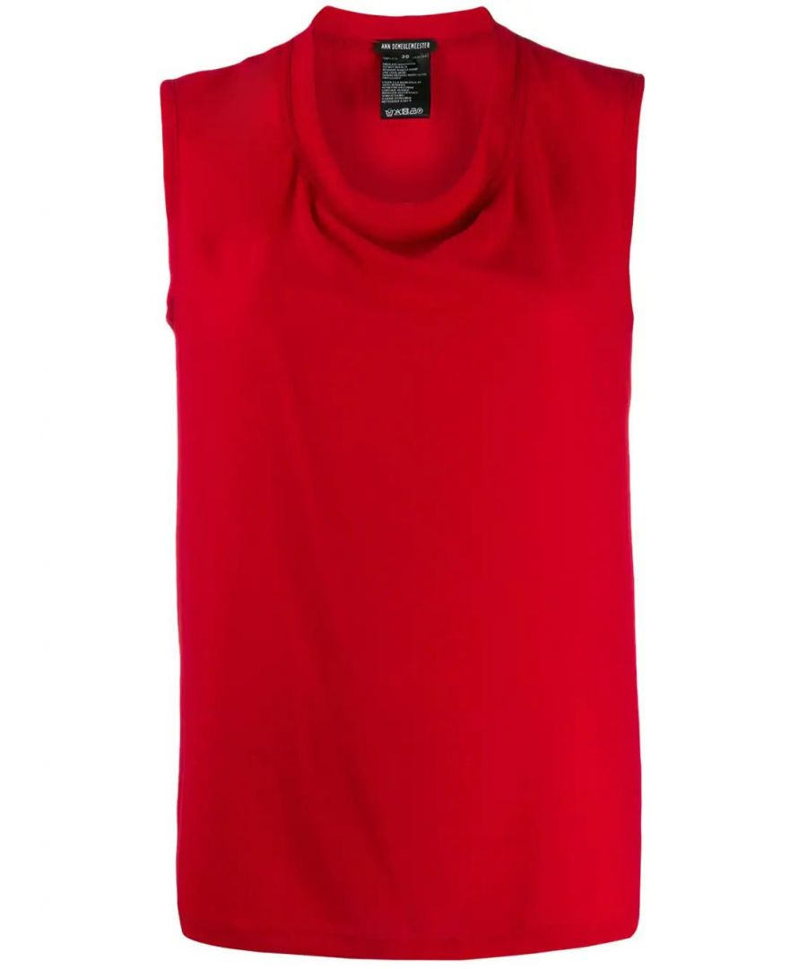 Image for ANN DEMEULEMEESTER WOMEN'S 19021835119039 RED POLYESTER TOP