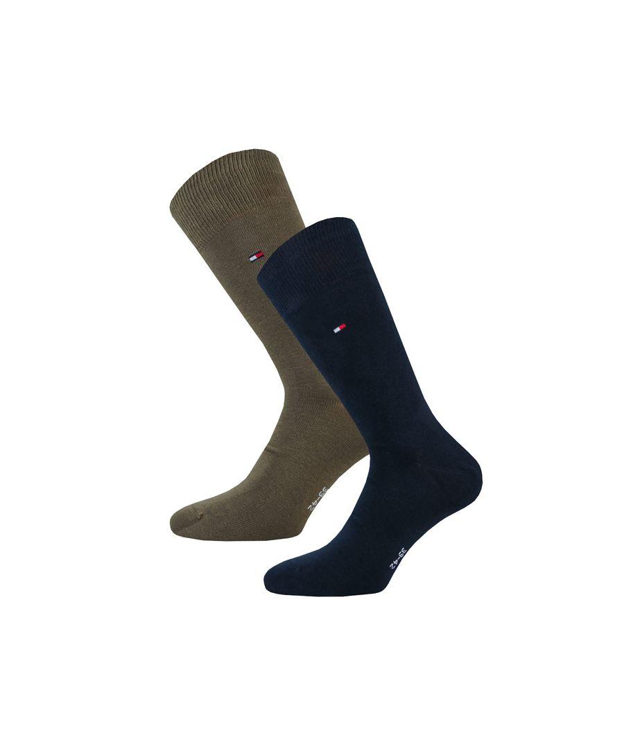 Image for Men's Tommy Hilfiger Classic 2 Pack Socks in olive