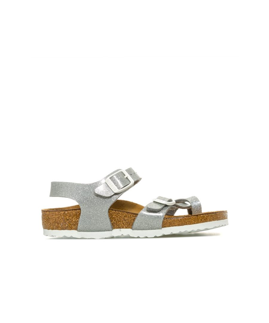 Image for Girl's Birkenstock Infant Taormina BF Magic Galaxy Sandals in Silver