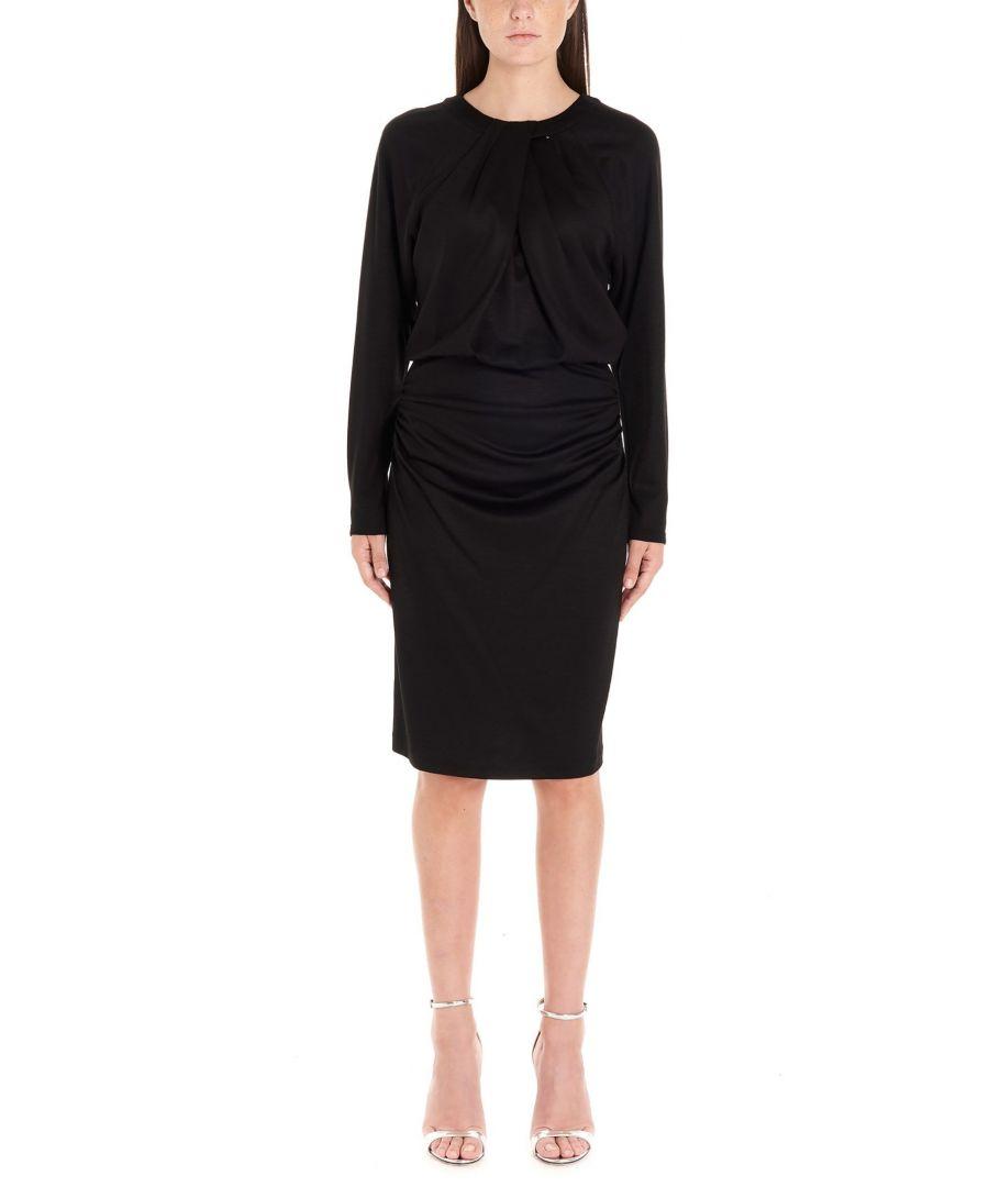 Image for DIANE VON FURSTENBERG WOMEN'S 13522DVFBLACK BLACK WOOL DRESS