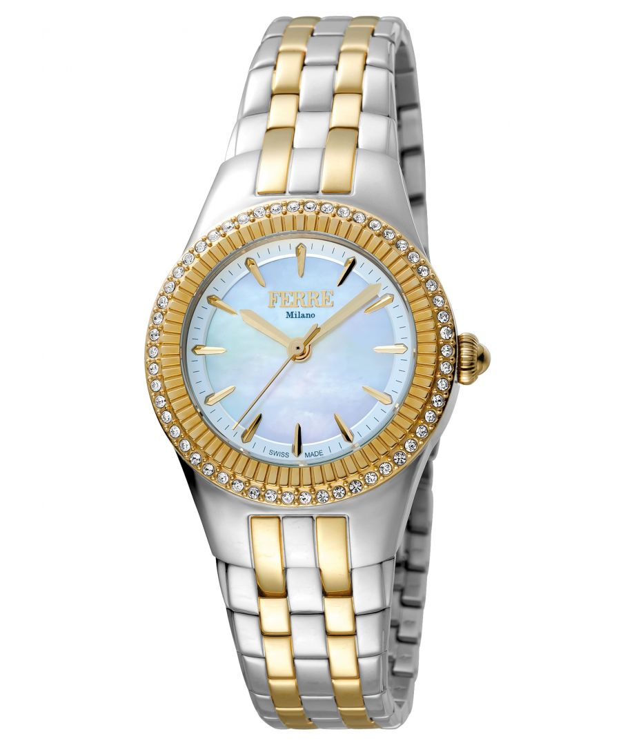 Image for Ferre Milano FM1L089M0091 Womens Light Blue   Dial Stainle Steel  Watch
