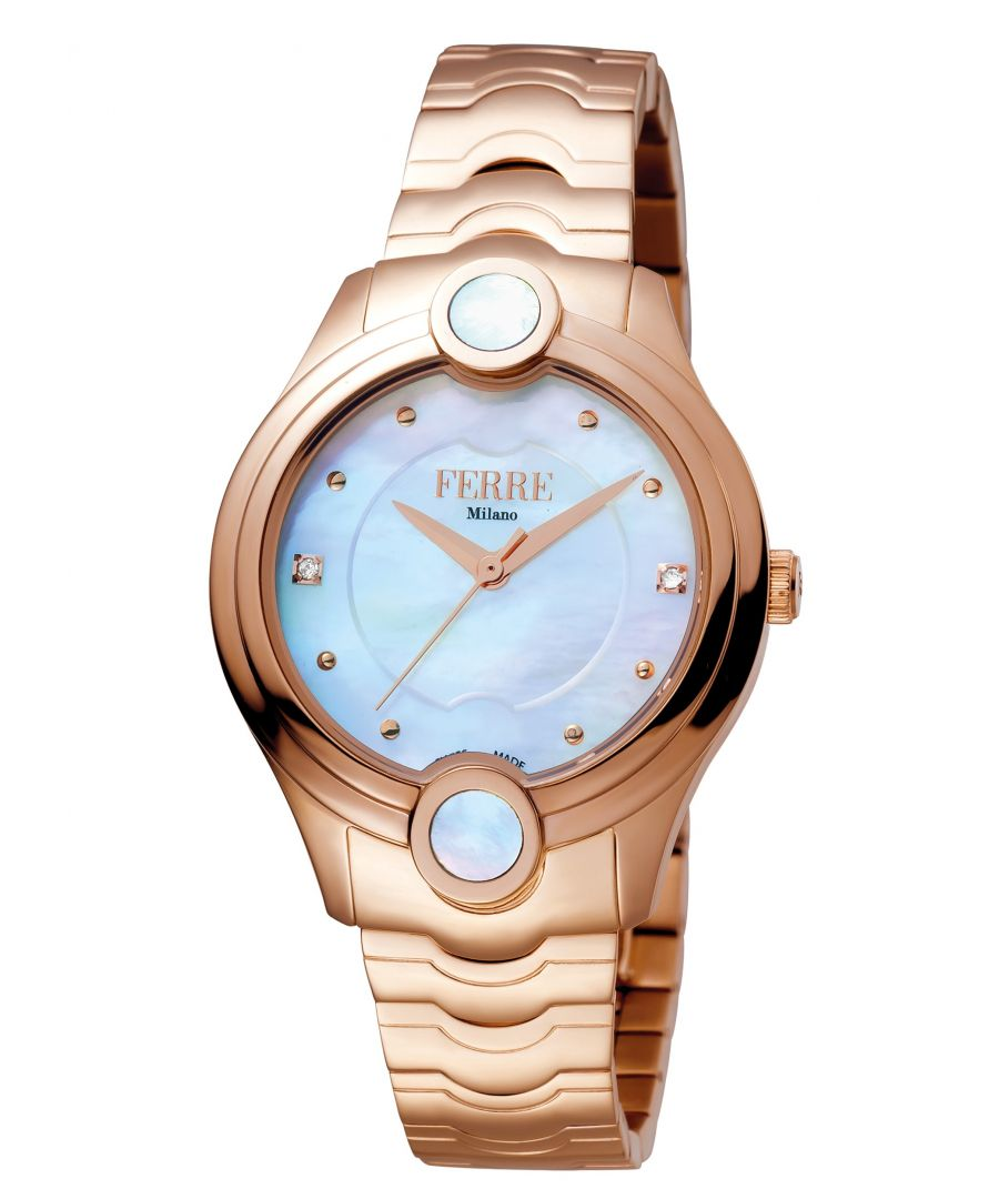 Image for Ferre Milano FM1L083M0051 Womens White MOP Dial Stainle Steel  Watch