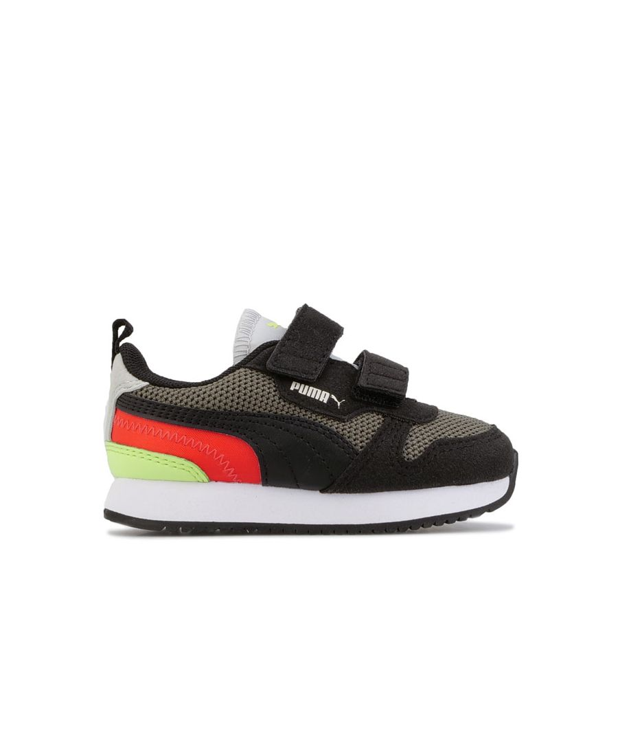 Image for Boy's Puma Infant R78 Trainers in Black Grey