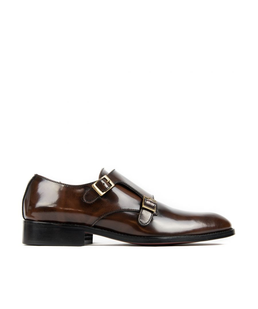 Image for Monk Men Leather Shoe Brown