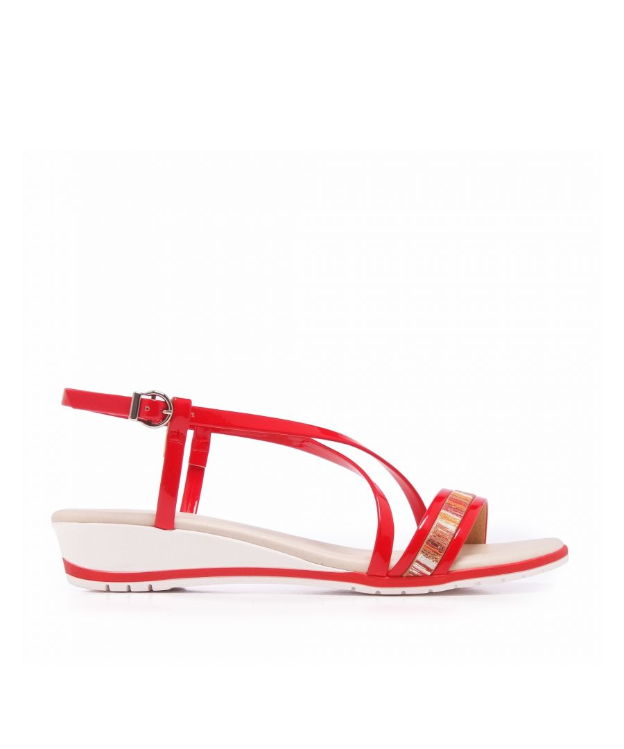 Image for Eva Lopez Flat sandal with crossed strips of metalic leather
