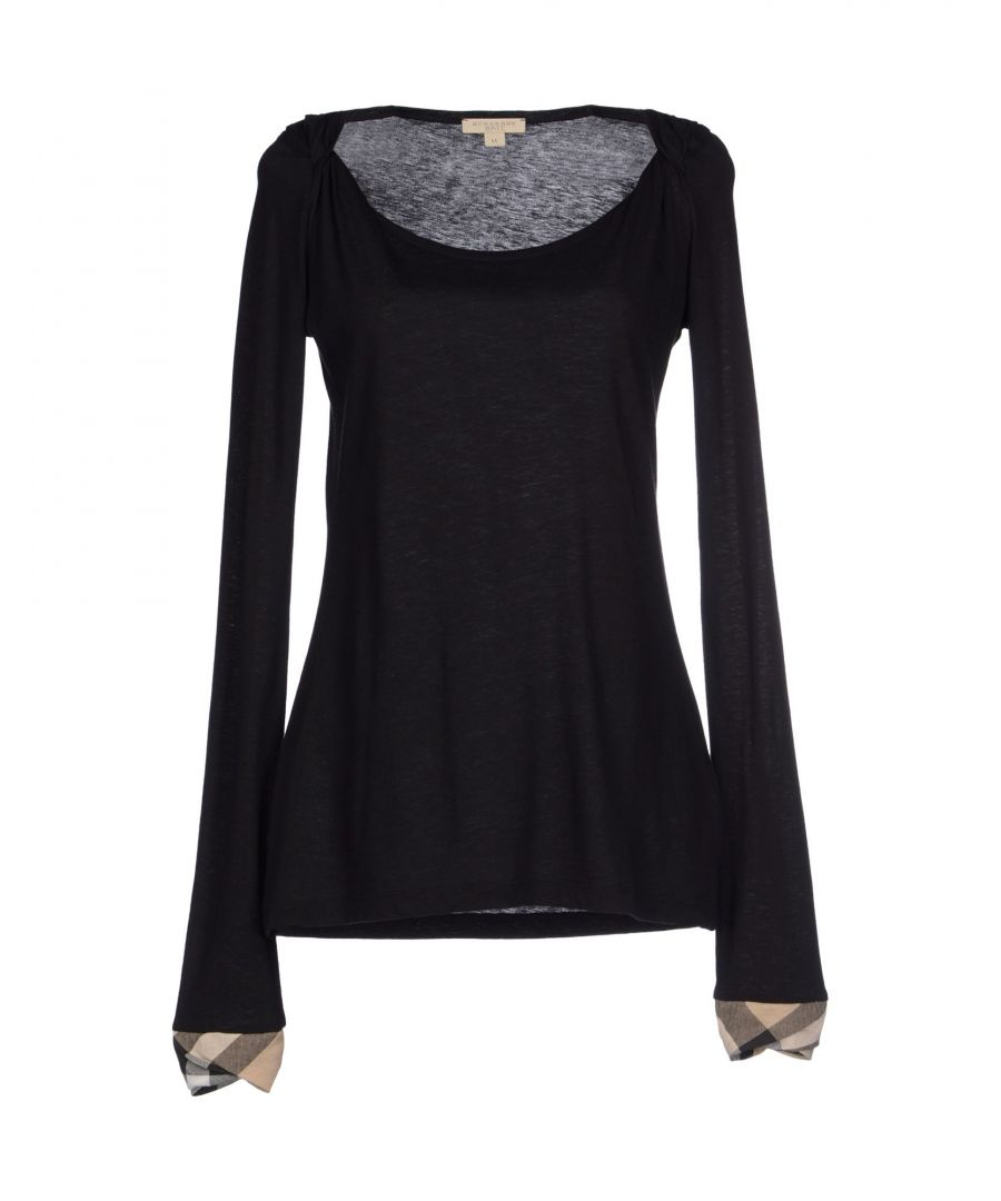 Image for Burberry Black Cotton Long Sleeve T-Shirt