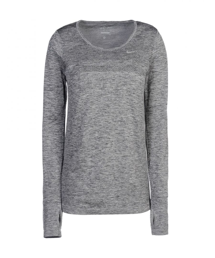 Image for Nike Grey Long Sleeve Top