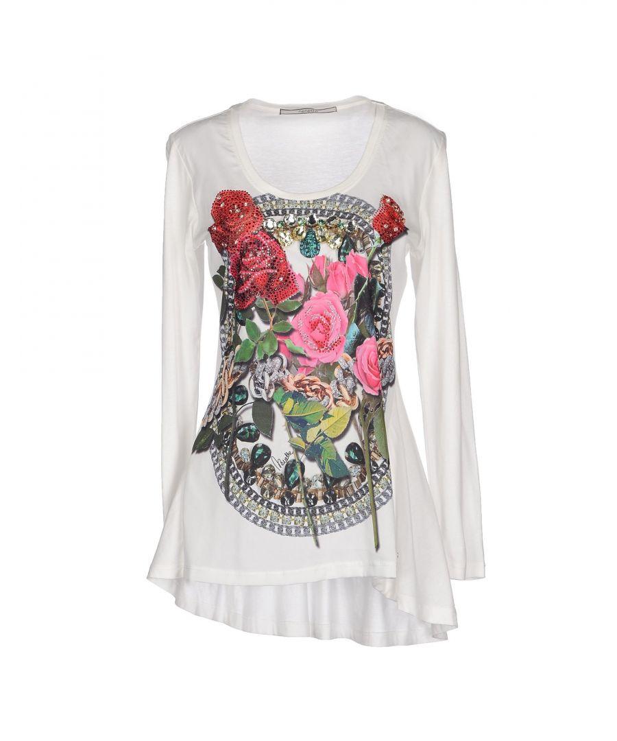 Image for Nenette Green Floral Design Cotton Long Sleeve T-Shirt
