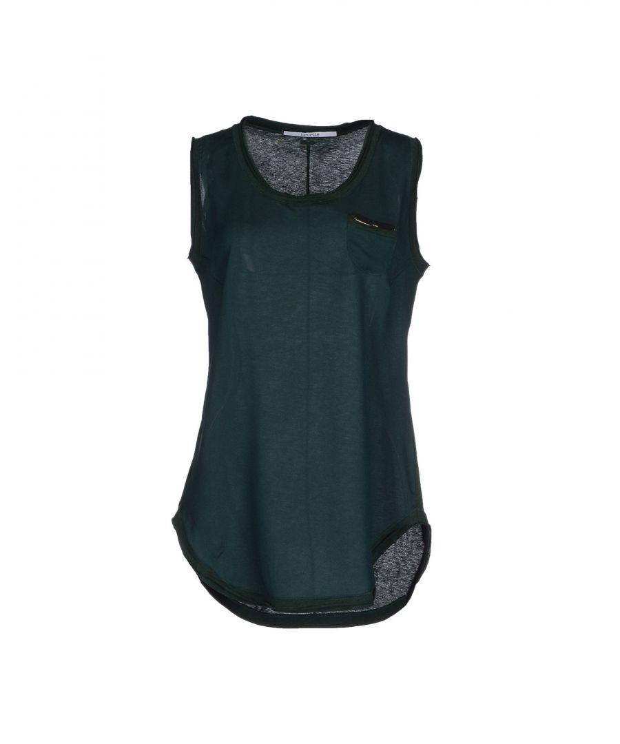 Image for Nenette Green Cotton Jersey Tank