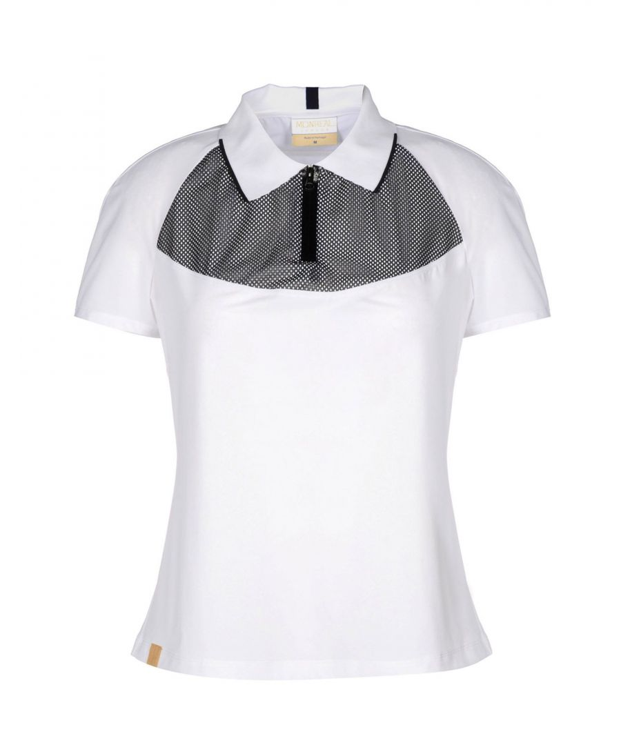 Image for Monreal London White Short Sleeve Polo Shirt