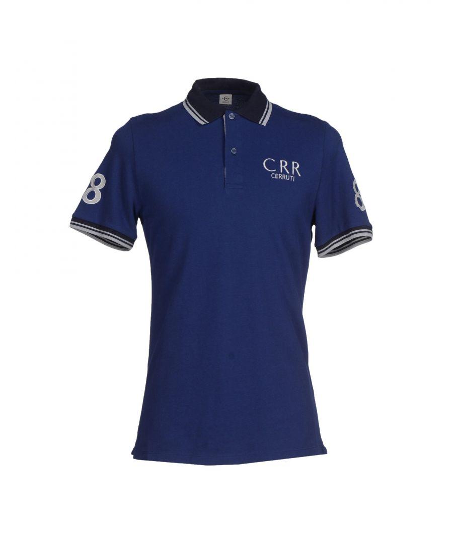 Image for Cerruti 1881 Blue Cotton Short Sleeve Polo Shirt